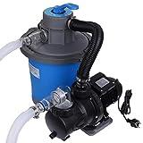 Blueborn Sand-Filteranlage SFP 6813 L/h Sandfilter Pool-Pumpe 6,8m³/h Schwimmbadpumpe 6 Wege Ventil