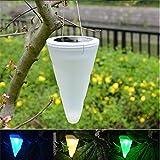 4 X Solarleuchten Hängeleuchte LED Farbwechsel Leuchten, Hängende Kegelförmige Solar...