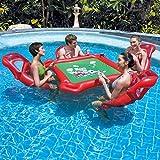 Aegilmc 4 Personen Aufblasbare Inselsee Float, Pool Air Lounge Chair, Karten Brettspiel Schwimmen...