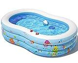 Peradix Aufblasbare Pool, 240 x 150 x 60 cm Groß Familienpool, Schwimmbecken Planschbecken,...