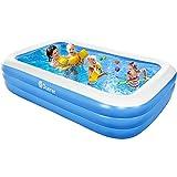 Duerer Aufblasbare Pool, Großer Familienpool, Pool rechteckig für Kinder, Familienschwimmbad,...