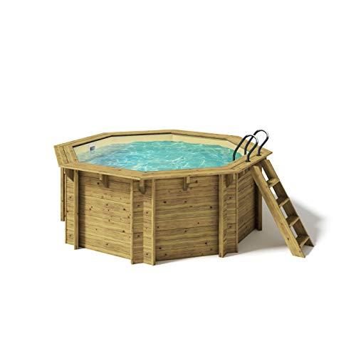 Paradies Pool® Holzpool Kalea Premium Komplettset inkl. Filteranlage für 50er Verrohrung,...