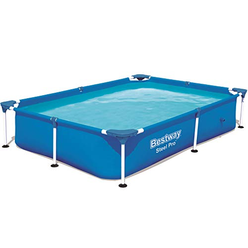 Bestway Steel Pro Frame Pool ohne Pumpe, eckig, 221 x 150 x 43 cm