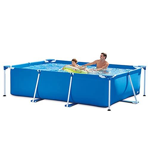 HT&PJ Aufstellpool, Metallrahmen Garten Pool, 300×200×75cm Sommer Schwimmbad, Mit klappbarer...