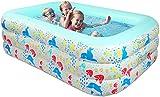 KIKILIVE Aufblasbare Pools,Großer Family Pool Deluxe, Pool rechteckig für Kinder, leicht...