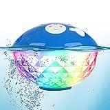 Tragbare Bluetooth Lautsprecher Farblicht, Schwimmend Dusche Lautsprecher Bluetooth4.2 Kabelloser...
