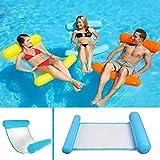 Sinwind Aufblasbares Schwimmbett, Wasser-Hängematte 4-in-1Loungesessel Pool Lounge luftmatratze...