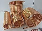 Spirale aus Kupferrohr 18x1mm weich aus 15m mit Außendurchmesser ca. 31cm Poolheizung Spirale 60...