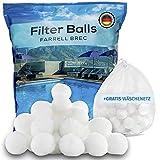 Farrell Brec Pool Filterbälle inkl. GRATIS Wäschenetz - Extra langlebige Filter Balls für...