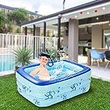 WWJJLL Kinder aufblasbarer Swimmingpool, Haushalt PVC-Platz Pool für Kinder Leicht zu montieren...
