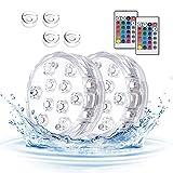 Unterwasser Licht, Aotlet 2 Stück Pool Licht, 10 LEDs Poolbeleuchtung Magnetisch Wasserdichtes...