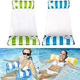 liuer Aufblasbare Hängematte,2PCS Wasser Hängematte Schwimmbett Loungesessel Pool Lounge...