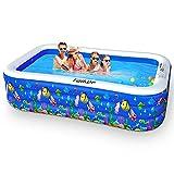 Taiker Aufblasbare Pool, Großer Familienpool, 234 cm x 142 cm x 51 cm Familien-Schwimmbad...