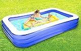 Aufblasbarer Pool, aufblasbarer Familienpool in voller Größe für Kinder und Erwachsene, 297 x 172...