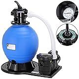 Monzana Sandfilter Sandfilteranlage mit Vorfilter 15.900 l/h 60 Liter Tank Poolfilter Filteranlage...