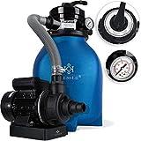 Kesser® Sandfilter Sandfilteranlage 10 m³/h - Poolfilter Filteranlage Filterkessel für Pool...