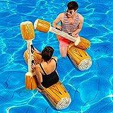Sannysis Aufblasbares Spielzeug Schwimmen 4 Stück Floating Battle Set Float Flöße Outdoor Beach...