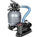 tillvex Sandfilteranlage 10 m³/h - Filteranlage 5-Wege Ventil | Poolfilter mit Druckanzeige |...