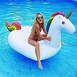 Dracarys Aufblasbar Einhorn Luftmatratze - Riesiger Aufblasbarer Einhorn Schwimmtier Pool Spielzeug...
