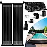 tillvex Pool Solarkollektor Set 76 x 300 cm | Solarheizung umweltfreundliches Erhitzen | Poolheizung...