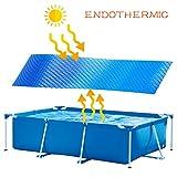 Solarabdeckplane für Frame Pool Rechteckig Solarplane Schwimmbecken Abdeckung Solarfolie Pool...