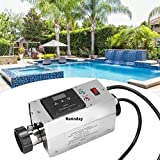 Nannday Poolheizung Elektrisch Thermostat, 220V 3KW wasserdichte Swimmingpool Thermostat Schwimmbad...