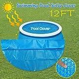 Longra Pool Solarplane Cover für Runde Pools Poolheizung,Blau (365cm rund)
