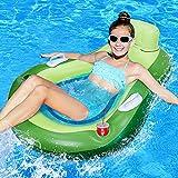 LETOMY Aufblasbare Schwimmbett, Avocado Luftmatratze Pool mit Netz für Erwachsene Kinder,...