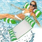 RHESHINE Aufblasbare Hängematte, Pool Float Lounge Wasserstuhl Wasser Hängematte 4-in-1...