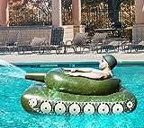 Noa Aufblasbarer Poolspielzeug, Sprühwasser Panzer Schwimmsessel, Sommerspiel Tank mit...