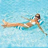 Goldmiky Aufblasbare Pool-Hängematte, schwimmende Lounge, Drifter und Sattel 4 in 1, Premium Wasser...